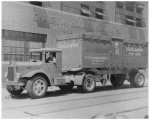 1934 Mack BX Tractor Trailer Truck Press Photo 0183 - Schaefer Fine Beer