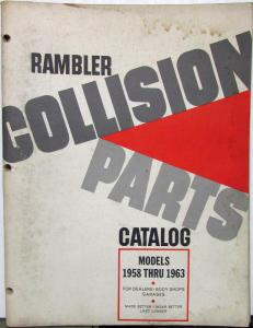 1958 1959 1960 1961 1962 1963 Rambler Collision Parts Catalog
