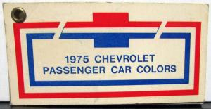 1975 Chevrolet Passenger Car Pocket Salesmans Paint Chips Sample Nova Camaro