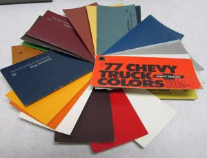 1977 Chevrolet Truck Pocket Salesmans Paint Chips Sample Series 10-90 Pickup Luv