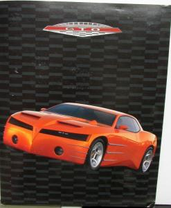 1999 Pontiac GTO Concept Car Press Kit