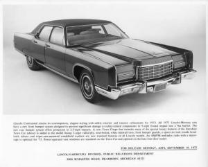 1973 Lincoln Continental Press Photo 0061