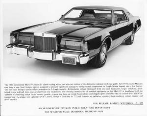 1973 Lincoln Continental Mark IV Press Photo 0063