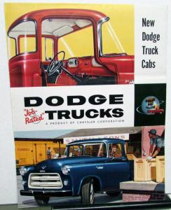 1955 Dodge Truck Cabs Pilot House Standard Custom Regal DeLuxe Sales Folder Orig
