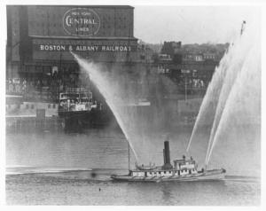 1940s Boston Fire Department Boats Press Photo 0059
