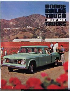 1965 1966 Dodge Crew Cab Pickup Truck Series D & W Sales Brochure Rev 7 65 Orig