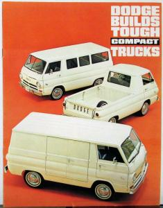 1965 1966 Dodge  A100 Compact Truck Van Pickup Sportsman Wagon Brochure 7 65 Rev