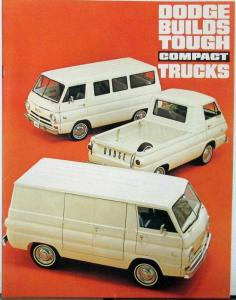 1965 Dodge  A100 Compact Truck Van Pickup Sportsman Wagon Sales Brochure 3 65