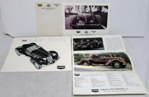 1960s 1970s Auburn Speedster Dealer Sales Set Model 866 Mailers Brochure