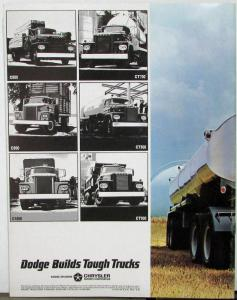 1964 Dodge High Ton Gas Truck C 800 - 1000 CT 700 - 900 Sales Brochure Rev 9 63