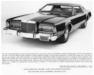 1974 Lincoln Continental Mark IV Press Photo with Text 0066