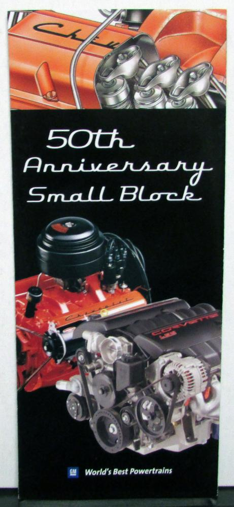 2005 Chevrolet Sale Brochure Show Handout 50th Anniversary Small Block V8 Engine