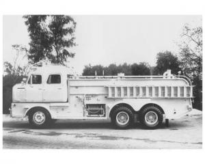 1957 FWD Schwalbe Conversion Fire Truck Press Photo Lot 0012