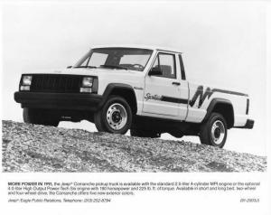 1991 Jeep Comanche Pickup Press Photo with Text 0014 - MJ