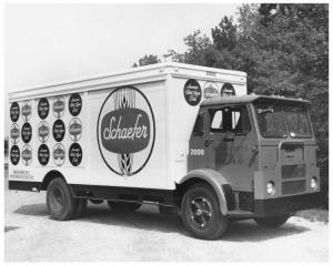 1964 White Compact Gerstenslager Body Truck Press Photo 0133 - Schaefer Beer