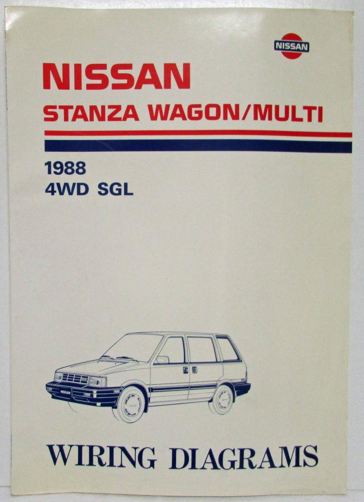 1988 Nissan Stanza Wagon  Multi 4wd Sgl Electrical Wiring