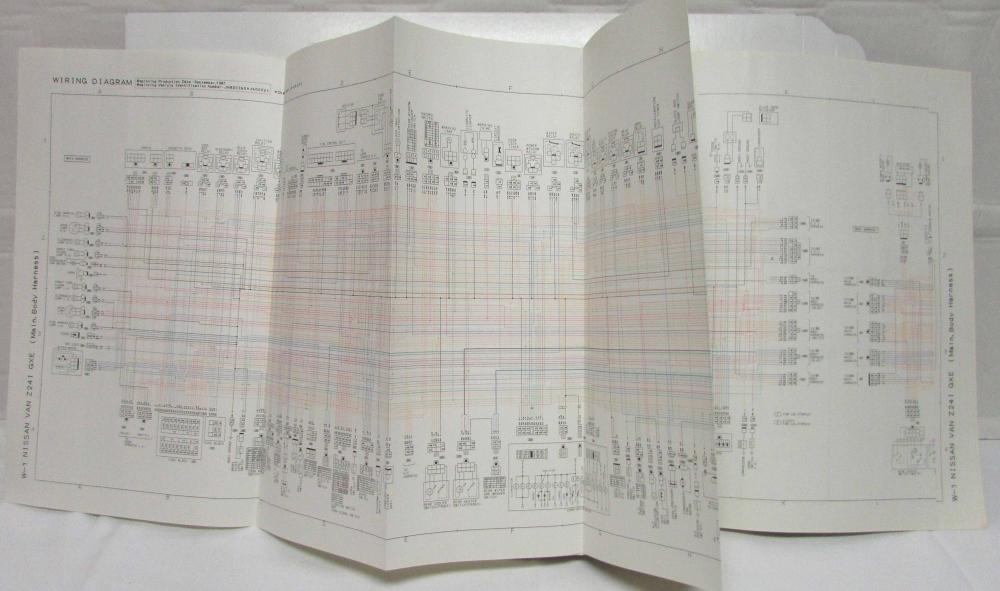 1988 Nissan Passenger Van Gxe Electrical Wiring Diagram Manual