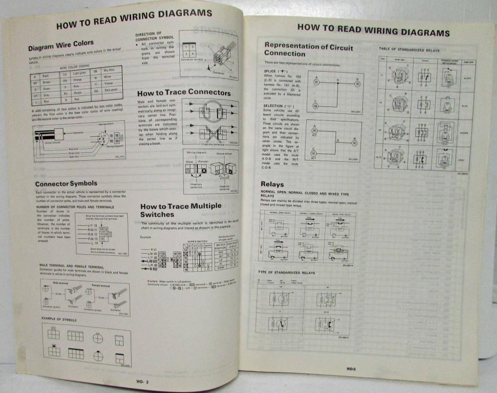 1991 Nissan Stanza 4-Door Sedan GXE Electrical Wiring ... on