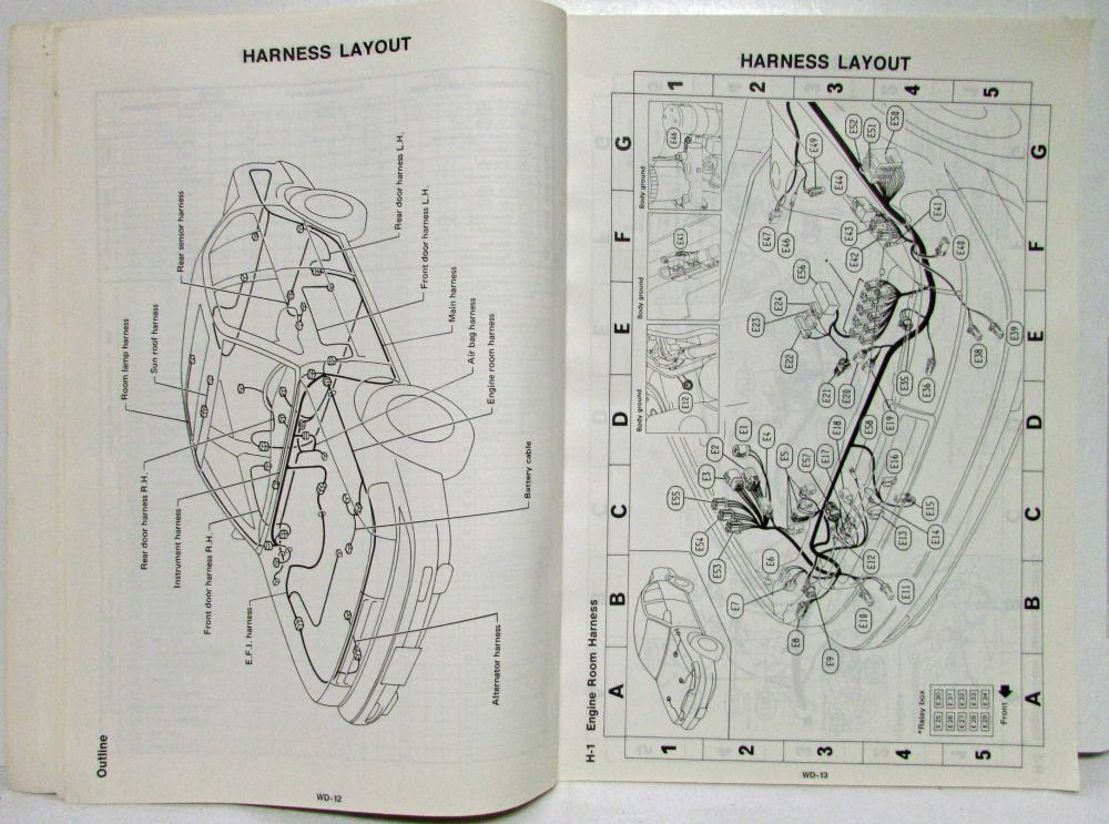 1992 Nissan Maxima Sedan GXE and SE Electrical Wiring Diagram Manual - US &  CATroxel's Auto Literature