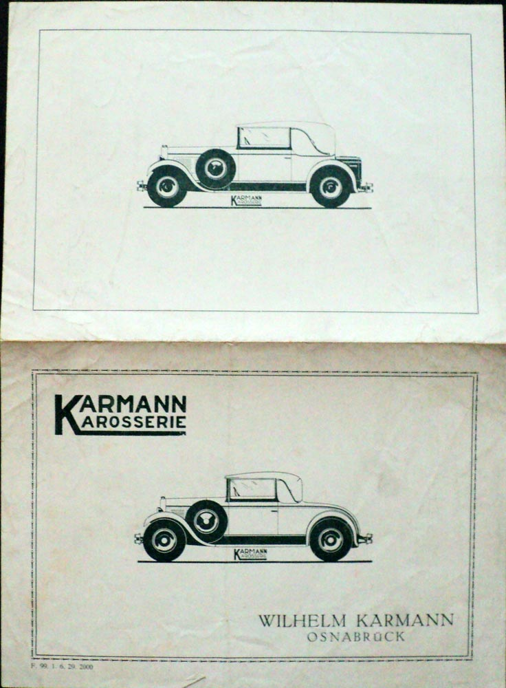 1929 1930 karman karosserie auto sales leaflet german text original troxel s auto literature