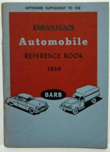 1959 Branham Automobile Reference Book - Sept Sup GMC Kenworth Plymouth Trailer