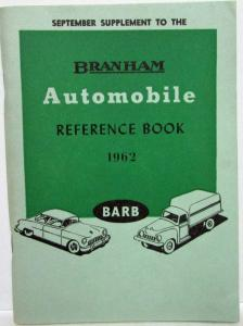 1962 Branham Automobile Reference Book - Sept Sup Ford Fiat Hillman