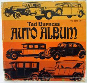 1971 Tad Burness Auto Album 5th Printing Locomobile Overland Studebaker Auburn