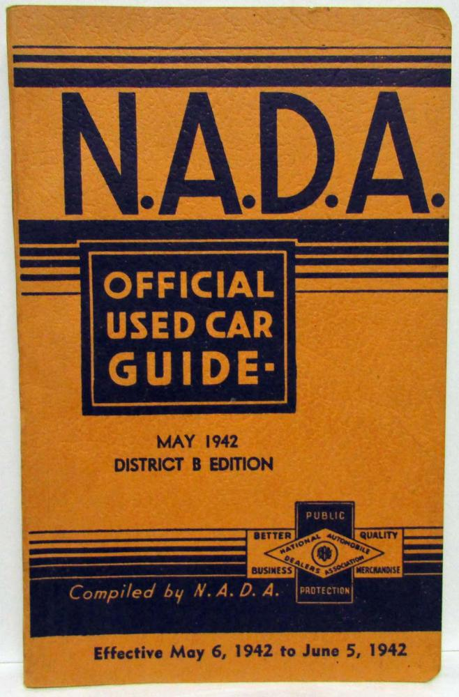 1942 NADA Official Used Car Price Guide - May - Auburn Chevrolet Ford Dodge