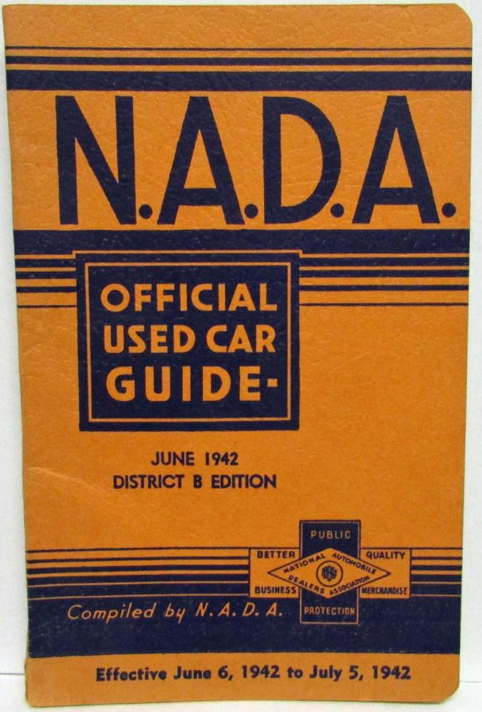 1942 NADA Official Used Car Price Guide - June - DeSoto Nash Hudson Plymouth