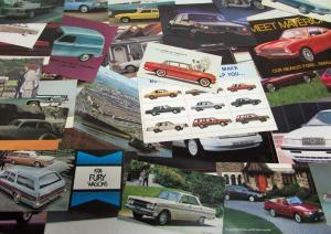 Automotive Postcard Lot - Many Makes Years &Models - Corvette XJ 220 Mustang AMC