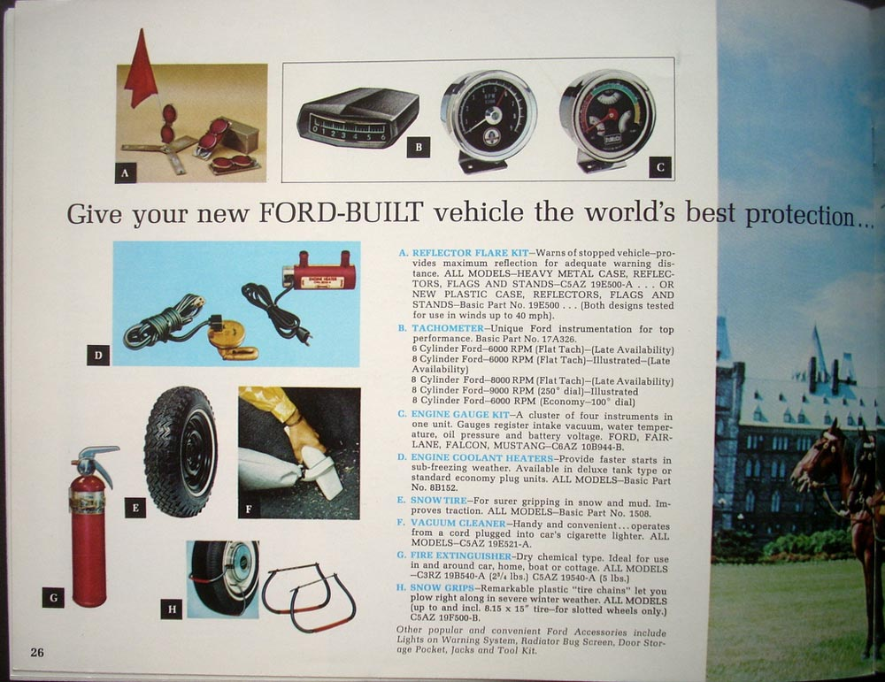 Original 1968 Ford Accessories Sales Brochure Mustang