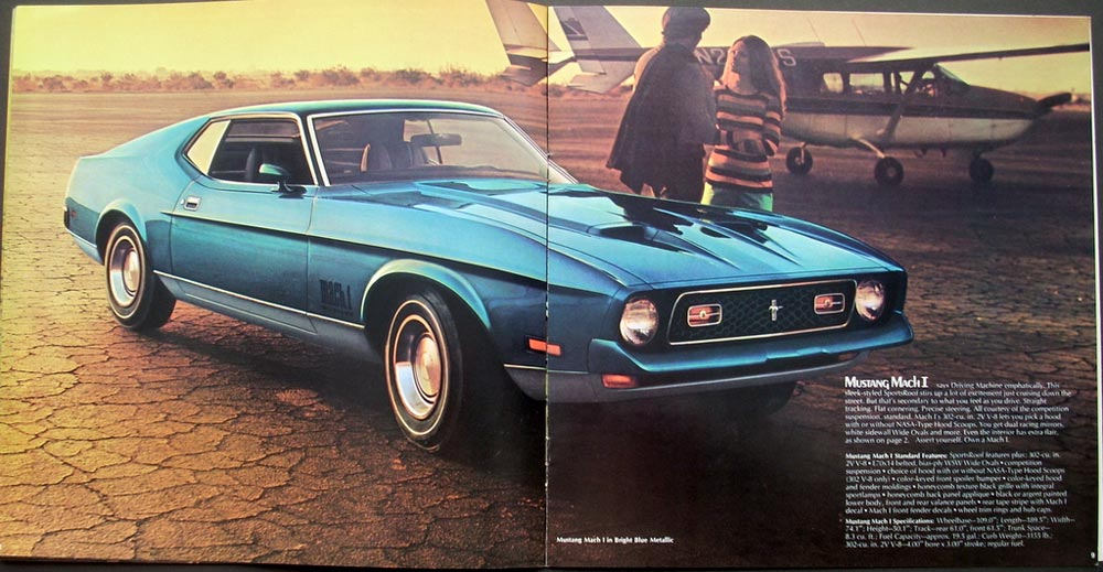 Original 1972 Ford Mustang Dealer Sales Brochure Mach 1
