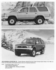 1993 Toyota 4Runner Press Photo 0020