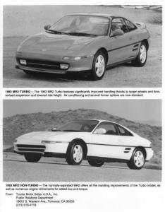 1993 Toyota MR2 Press Photo 0021