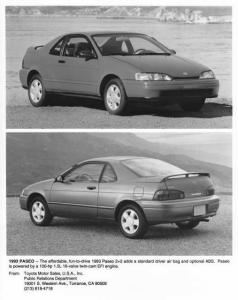 1993 Toyota Paseo Press Photo 0023