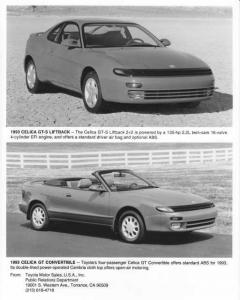 1993 Toyota Celica Press Photo 0024
