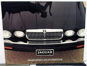 1982 Jaguar Series III & Vanden Plas Dealer Prestige Sales Brochure Features
