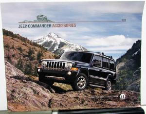 2008 Jeep Commander Dealer Accessories Sales Brochure Mopar Options Add Ons