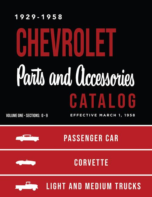 1929 - 1957 1958 Chevrolet Parts Catalog Pass Car Pickup Med Truck Corvette
