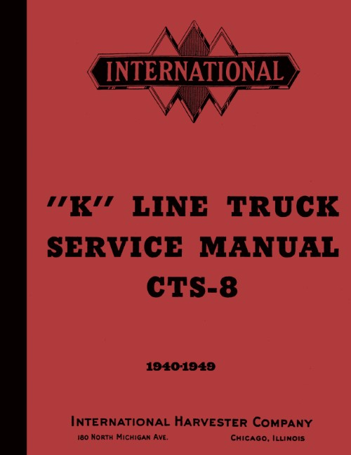 1940 1941 1942 1946 1947 1948 1949 International K & KB Truck Service Manual
