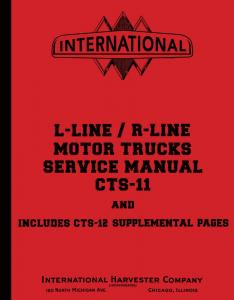 1950 1951 1952 1953 1954 1955 International L & R Series Truck Service Manual