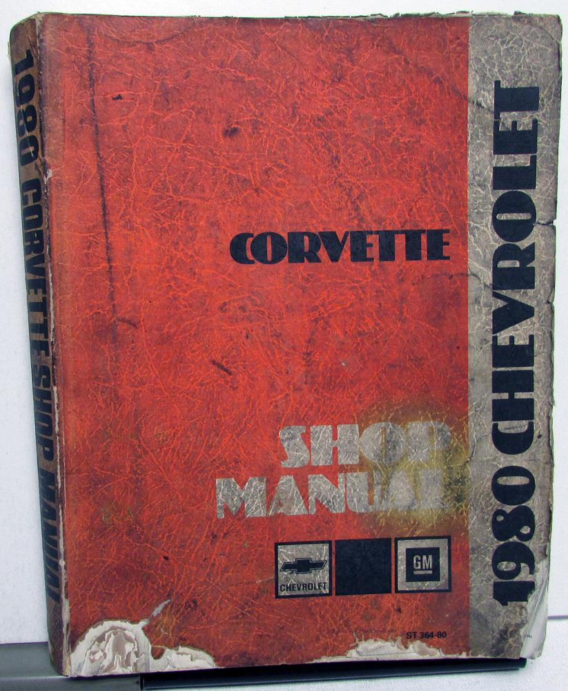 1980 Chevrolet Corvette Dealer Shop Service Repair Manual Book Original 80