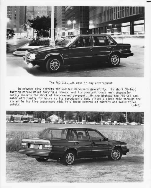 1984 Volvo 760 GLE Press Photo 0010