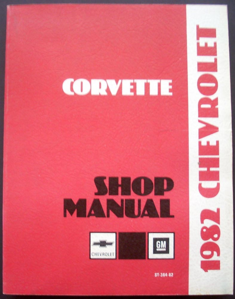 1982 Chevrolet Corvette Dealer Shop Service Repair Manual Book Original 82