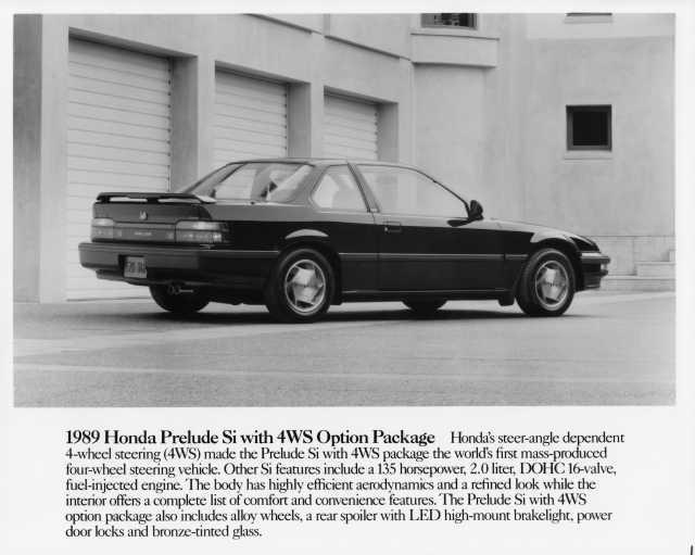 1989 Honda Prelude Si with 4WS Press Photo 0011