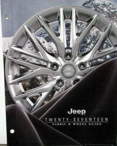 2017 Jeep Fabric Wheel Brochure Dealer Only Item Original