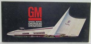 1965 GM General Motors Overseas Operations Sales Folder