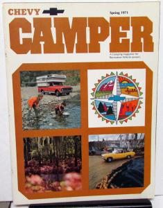 Spring 1971 Chevy Camper Promotional Camping Magazine Chevrolet Cars Trucks RV