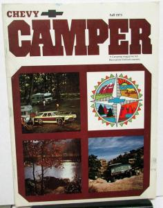 Fall 1971 Chevy Camper Promotional Camping Magazine 1972 Chevrolet Cars Trucks