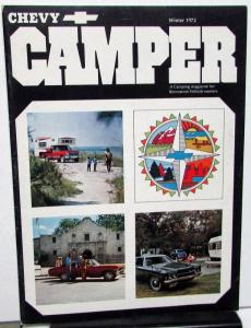 Winter 1972 Chevy Camper Promotional Camping Magazine Chevrolet Cars Trucks RVs
